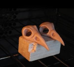 Skulls in oven
